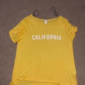 H&M Yellow T shirt Women's